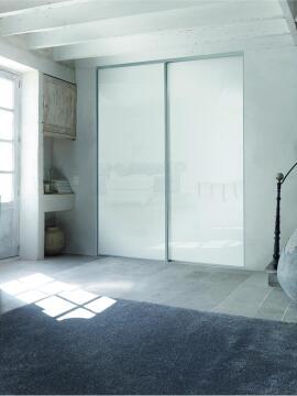 Wardrobe sliding door allure lacqu glass white H250cm x W62cm