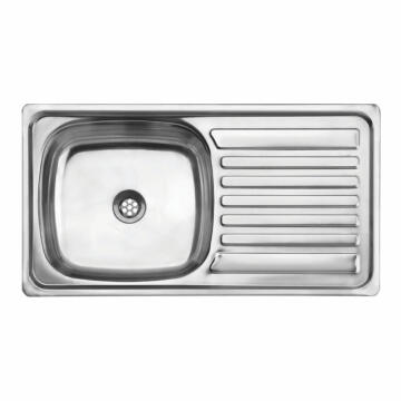 Kitchen sink 1sq bowl 1d CAM ss 75cmx40cm SEB excl 40mm SC 7540 S/SEB