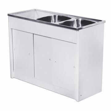 Kitchen Knock Down unit 2sq bowls 1d CAM ss 1200 x 480 +SEB excl 40mm KD1200/2