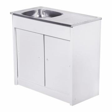 Kitchen Knock Down unit 2sq bowl 1d CAM ss 915 x 460 + SEB excl 40mm KD 915 / 1