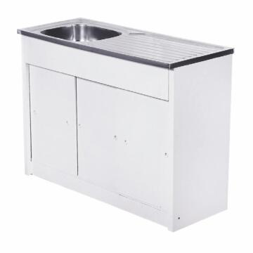 Kitchen Knock Down unit 2sq bowl 1d CAM ss 1200x480+SEB excl 40mm KD1200/1