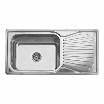 Kitchen Sink 1sq Bowl 1d D/I CAM Ss 1000cmx500cm SEB Incl 90mm DC 1050A / 1L