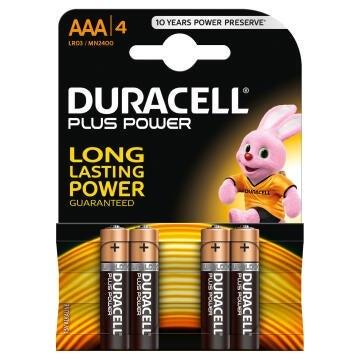 Battery alkaline DURACELL AAA / LR03 x4