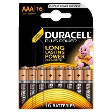 Battery alkaline DURACELL AAA / LR03 x16