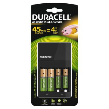 Battery charger for 2xAA and 2xAAA 45 minutes