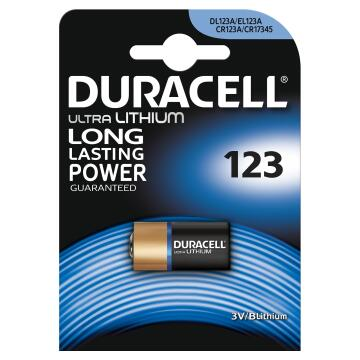 Battery lithium DURACELL 123