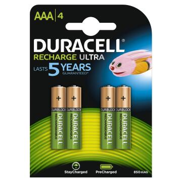Rechargeable battery AAA 850MAh DURACELL AAA x4