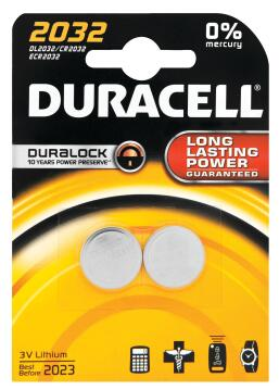 Battery alkaline DURACELL CR2032 x2