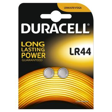 Battery alkaline DURACELL LR44 x2