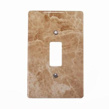 Cover plate 50x100mm for switch 1 lever CRABTREE marble