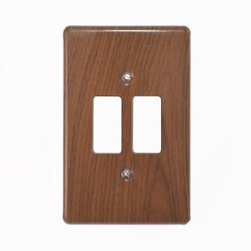 Cover plate 50x100mm for switch 2 levers CRABTREE short grain