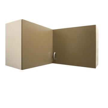 Kitchen wall cabinet kit corner 2 door SPRINT espresso L100cmxH58cmxD100cm