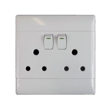 Socket 100x100mm 2x3pin CBI ELECTRIC white