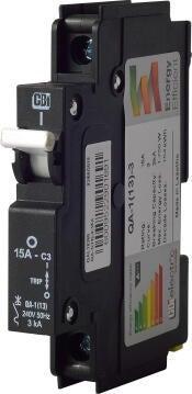 Circuit breaker mini rail 15Amp CBI ELECTRIC