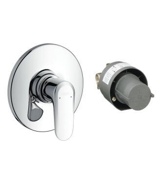 Hg ecos shower mixer set conc install