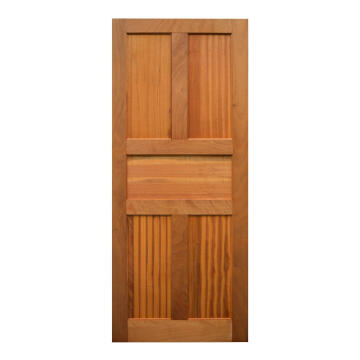 Entry Door Engineered Wood with Hardwood Veneer 5 Panel Kayo-w813xh2032mm