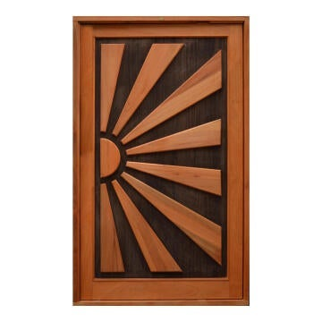 Entry Door Engineered Wood with Hardwood Veneer with Frame (prehung) Kalahari Winster Pivot Right Hand Opening-w1290xh2115mm
