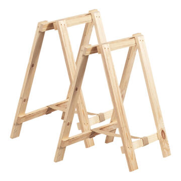 TRESTLE LEGS PAIR PINE 750X600MM
