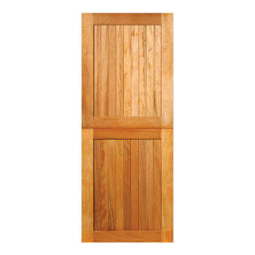 Service Door Stable Engineered Wood with Hardwood Veneer Framed, Ledged & Battened Open Back Winster-w813xh2032mm