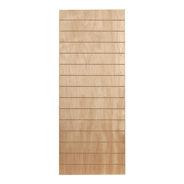 Interior Door Fire Resistant Hard Board with Veneer Horizontal Slats 2 Concealed Edges-w813xh2032mm