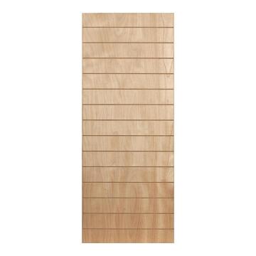 Interior Door Hard Board with Veneer Hollow Core Horizontal Slats 2 Concealed Edges-w813xh2032mm