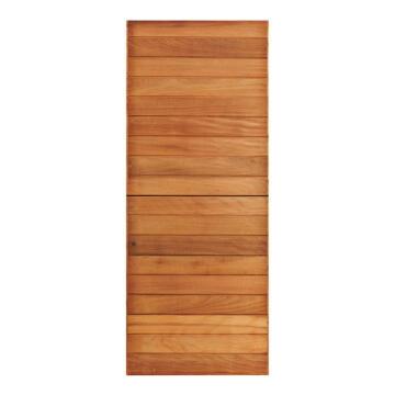 Service door hard wood stable horizontali slat standard