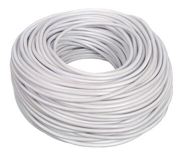 Cabtyre cable 2x1mm + earth white 10m