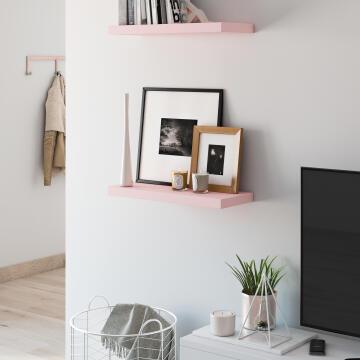 Floating shelf pink 60x23cm
