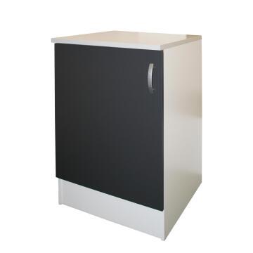 Kitchen base cabinet kit 1 door SPRINT grey L60cmxH87cmxD60cm
