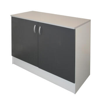 Kitchen base cabinet kit 2 door SPRINT grey L120cmxH87cmxD60cm