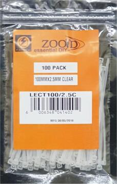 Cable tie 100x2.5mm ZOOID white x100