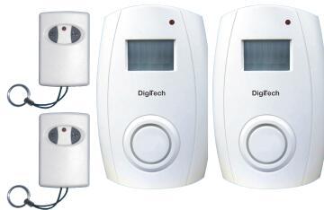 Motion sensor with remote stand alone alarm wireless DIGITECH x2
