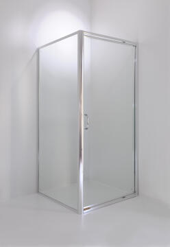 Shower corner entry quadrant glass CERTO clear 98,5x98,5x185cm