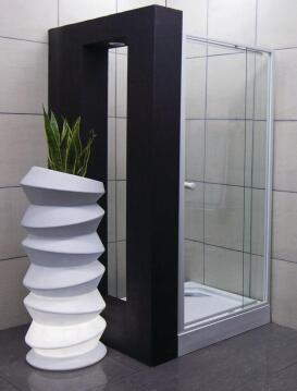 Shower corner entry pivot square el blanco wht extandable 80 - 102CM