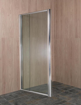 Shower corner entry pivot square OVVIO extendable return panel 800-102X 185CM