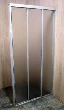 Shower corner entry pivot square trimatic obscure glass 88,5CM– 91,5X185CM