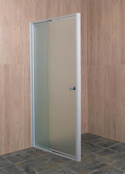 Shower front acess exandable pivot door glass EL CLASSICO clear 80-102CM