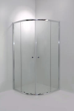 CURVY QUADRANT SEMI -FRAMELESS SHOWER