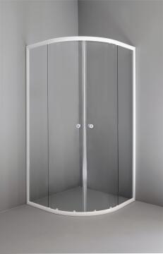 Shower corner entry pivot square LUGAR quad - white Shower 90X90X185CM