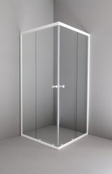 Shower corner entry pivot square NOVENTA corner entry - wht shw 90X90X185CM