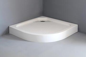 Shower tray acrylic quandrant waste 90X90X15cm
