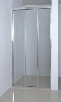 Shower frameShower enclosure glass chrome trislider door panel clear 88,5to91,5x185cm