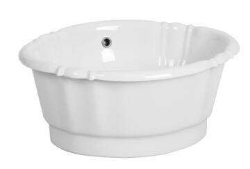 Basin drop in barocco white 50x41x11cm
