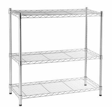 Shelf Chrome 3 Tier 90X35X90Cm