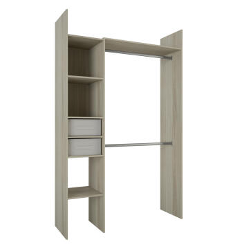 WARDROBE KIT 2 BASKETS COMPACT 136 OAK