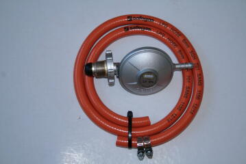 Gas kit incl bullnose regulator ,1.2m hose and 2 clamps