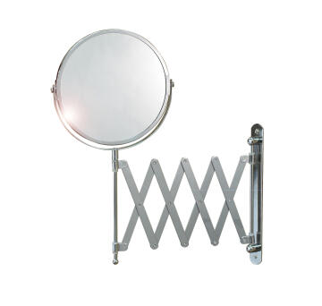 Mirror extentension chrome plated URBAN round D17XH38CM