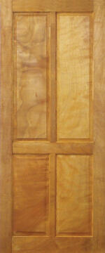 Entry door mixed timber 4 panel