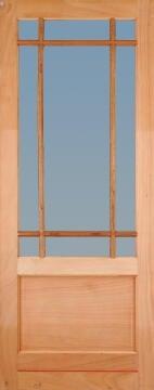 Patio door engineered hard wood montague