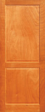 Entry door engineered hard wood 2 panel